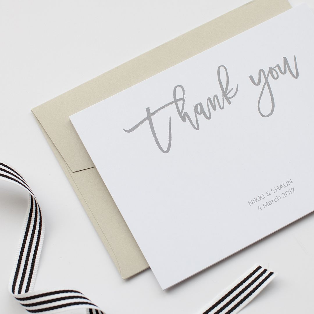 Simply Thank You Card Design Paperlust Design Print Paper