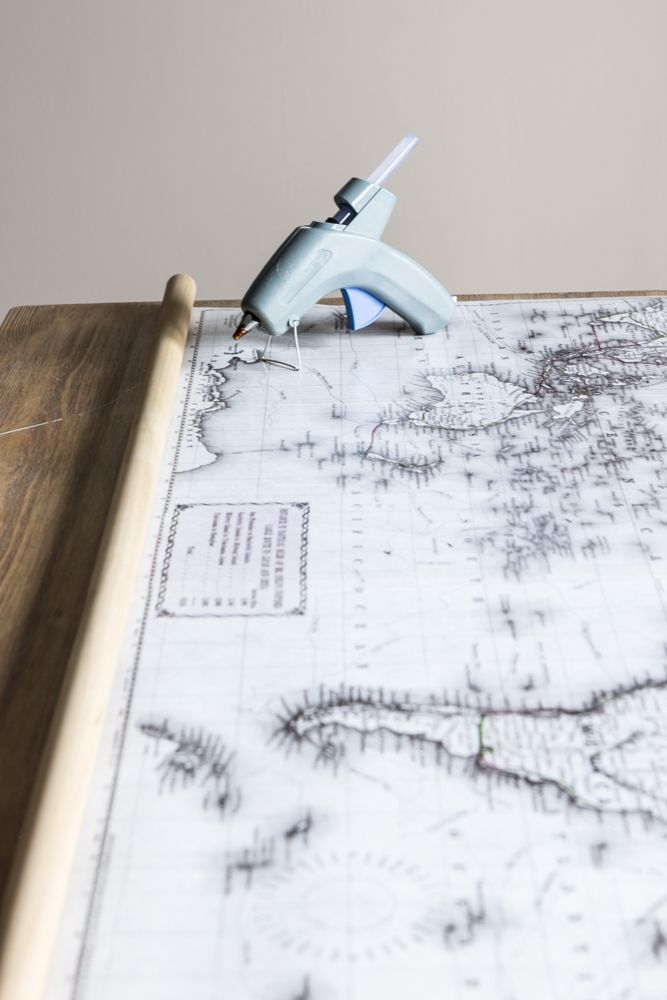 DIY Vintage PullDown Map Alternative Vintage And Craft - Cheap vintage maps