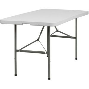 Fold In Half Folding Tables Dad Ycz 152z Gg 5 Foot White Bi Fold Tables 20 Pack Folding Table Flash Furniture White Table Top