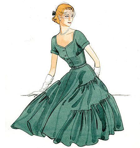 V9106 VOGUE Vintage Schnittmuster Kleid 50er Jahre in 2018 | Mode ...