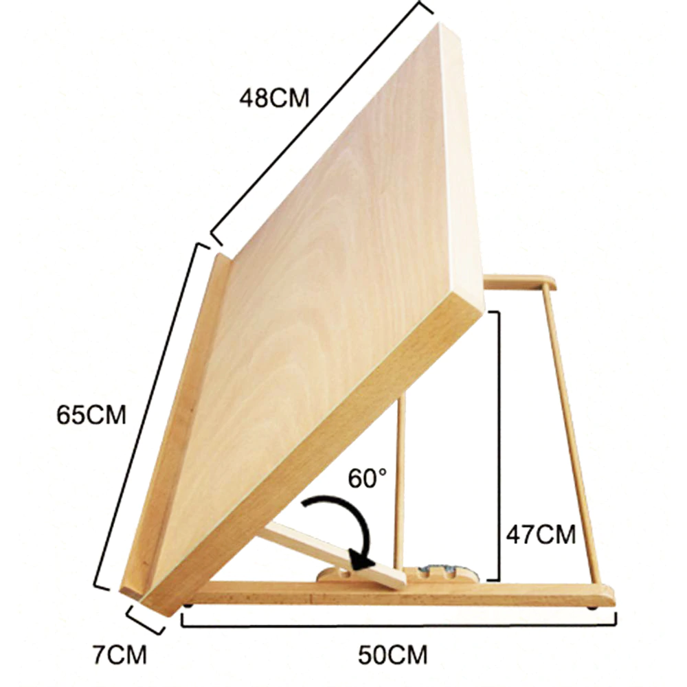 Folding Painting Wooden Sketch Easel Adjustable Artist Wood Drawing Board Easel Stand Holder Floor Studio Sketching Board In 2020 Table Easel Wood Easel Drawing Table