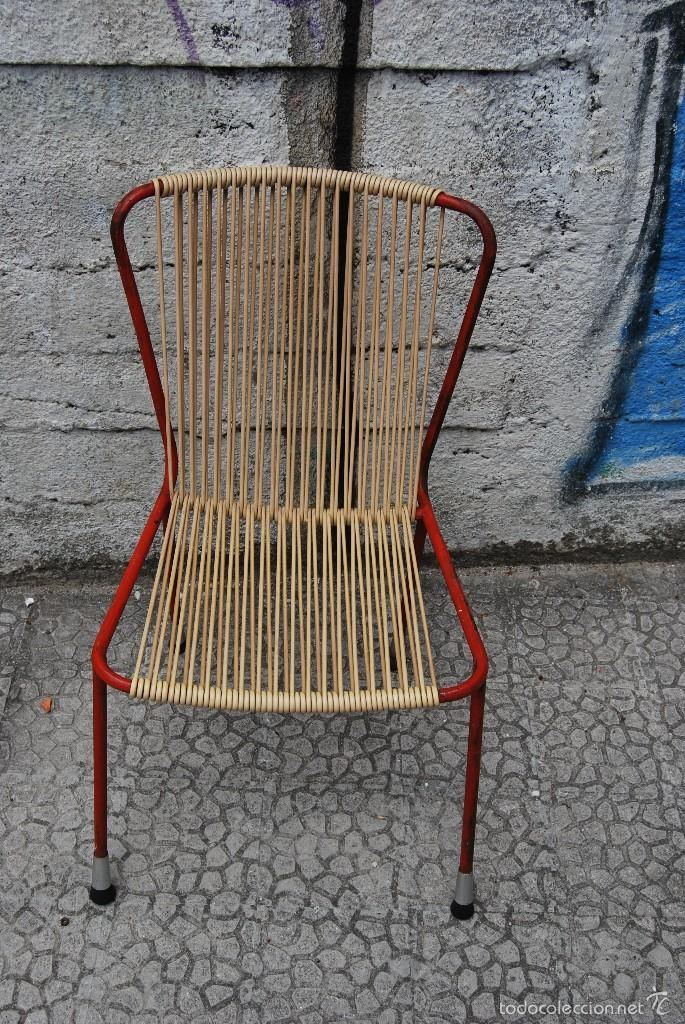 Años 50 De Diseño Silla Jardín Metal Vintage Retro Other