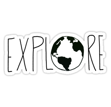 Explore the globe iii sticker by leah flores