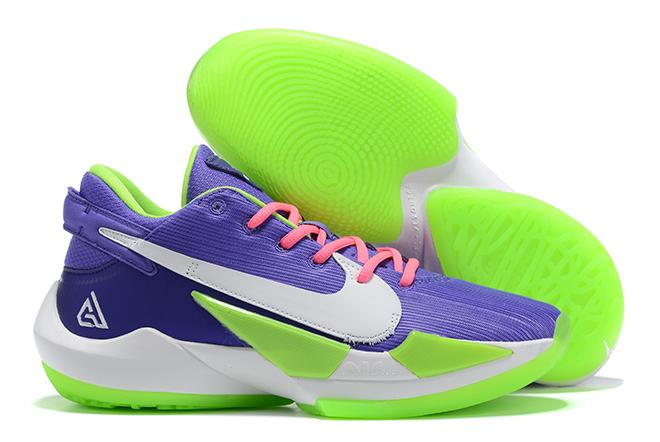 "2020 Nike Christmas Shoes 2020 Nike Zoom Freak 2 ""Christmas"" Purple/Green White For Sale in"