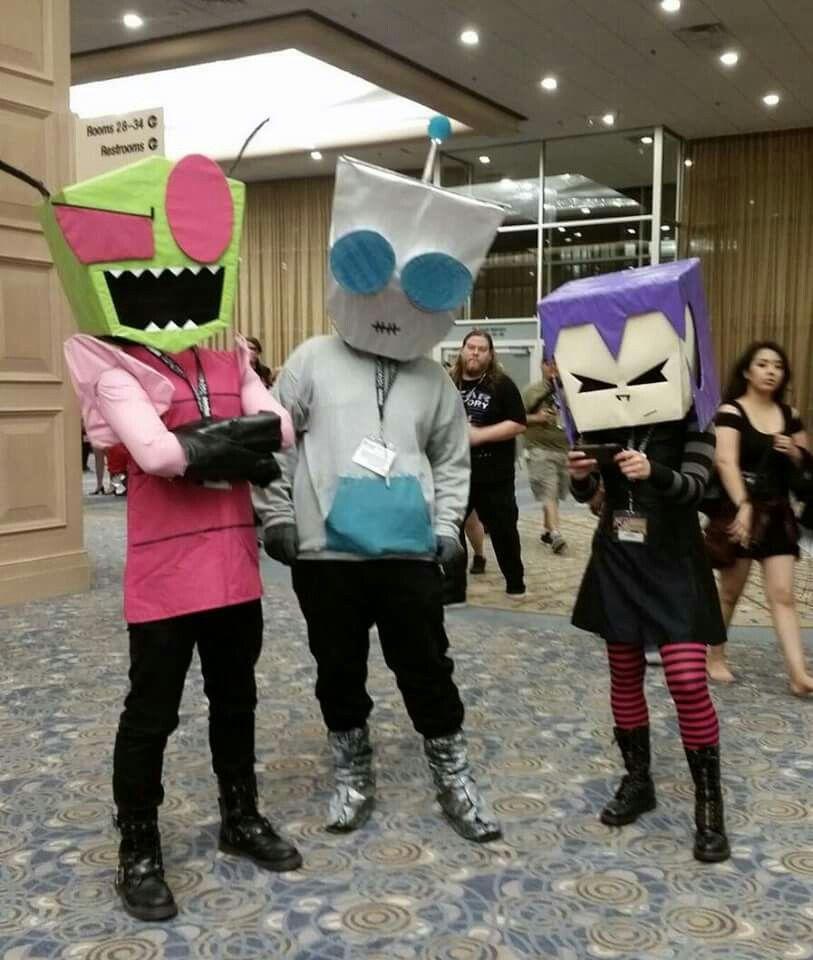 Zim Gir And Gaz Invader Zim Costume Cosplay Group Cosplay
