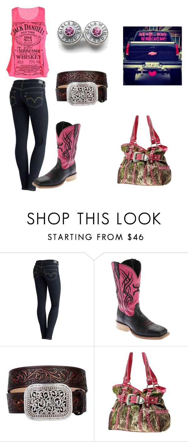 """""""Untitled #40"""" by mamartin55 ❤ liked on Polyvore featuring Levi's, Twisted X Boots and Ariat"""