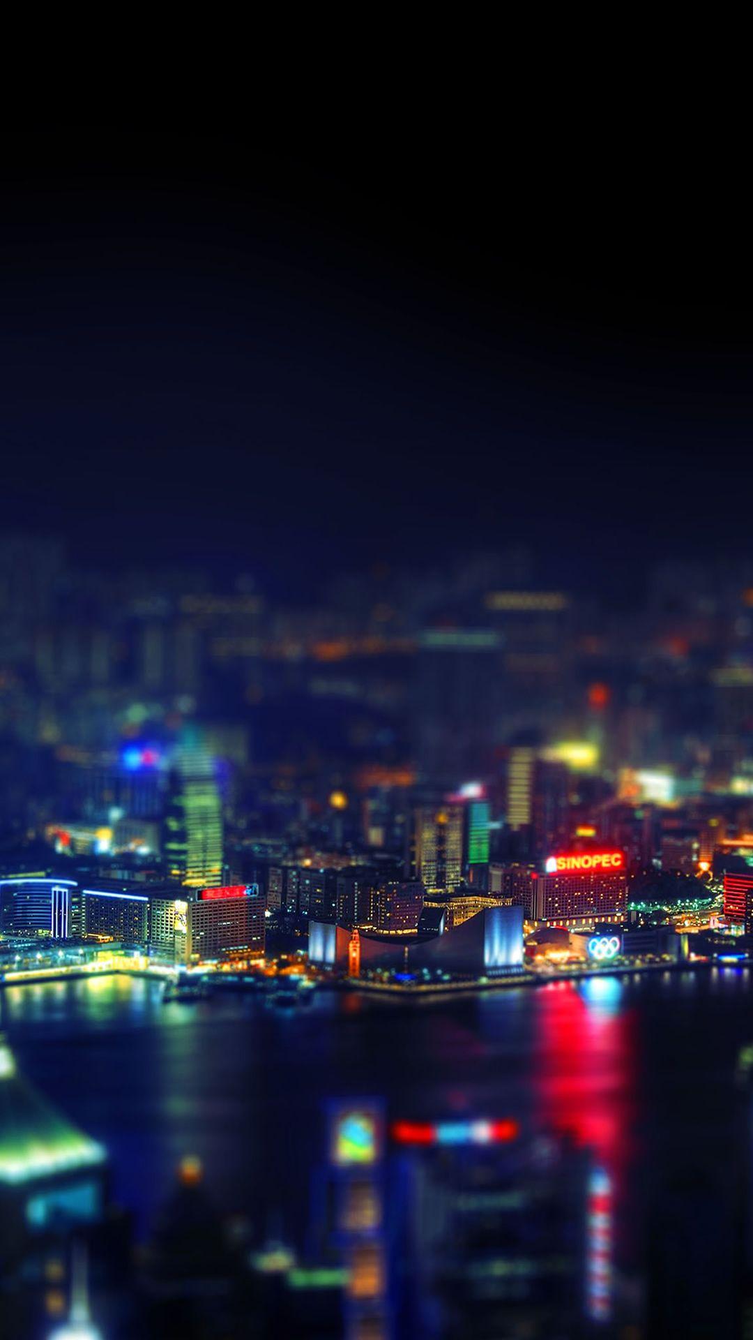 Hongkong Night Cityscape Light Iphone 8 Wallpapers Iphone 6s