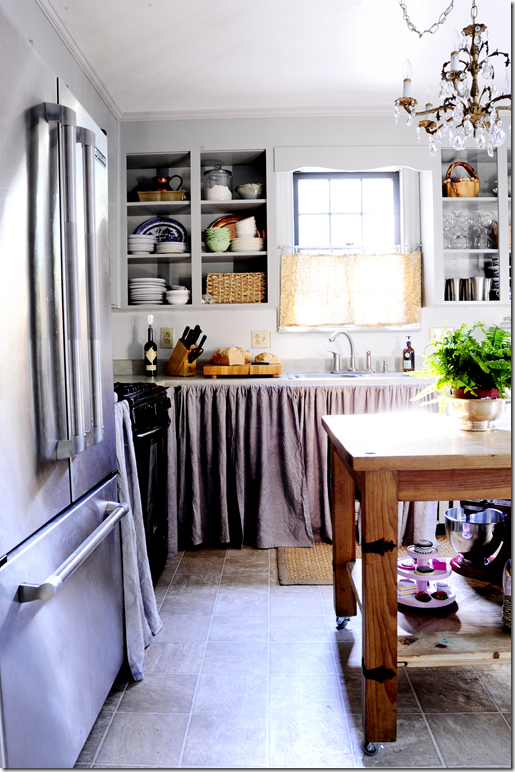 Red Brick And Railings Part Two Open Kitchen Cabinets Kitchen Inspirations Linen Cabinet