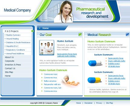 10 Free Medical Templates For A New Website | Website Design ...