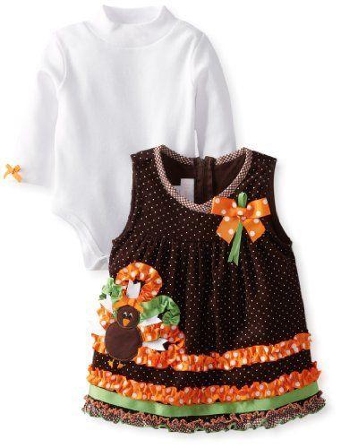 a06217a8f354f Bonnie Baby Baby-Girls Newborn Turkey Applique Corduroy Jumper Set, http://
