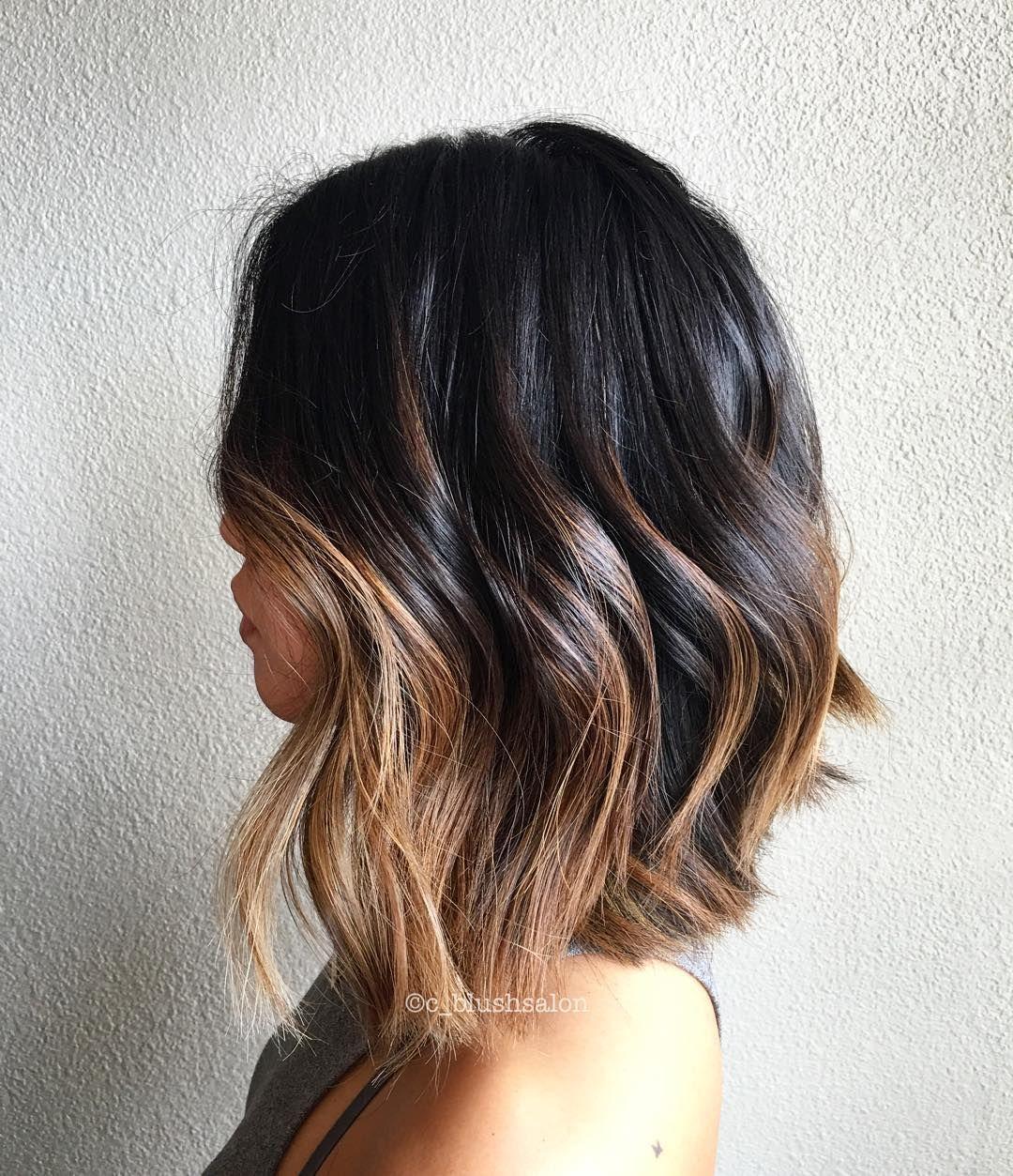 balayage brown lob | Hair / Makeup Lookbook | Pinterest ...