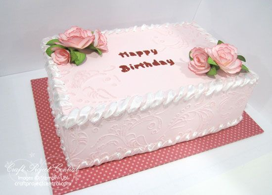 Cake Box Decorating Ideas Long Cake  Cakes Pinterest  Cake Flowers And Cake
