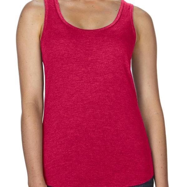 ded284e137 női ujjatlan felső trikó Anvil Racerback Tank heater piros www.urespolo.hu