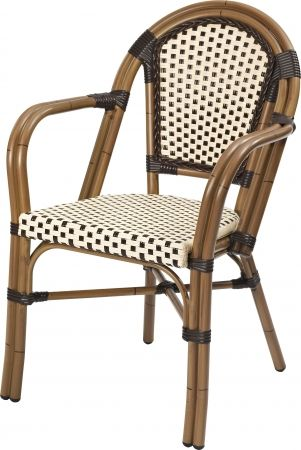 Terrassenstuhl classic 100 braun beige stapelbar for Terrassen lounge gunstig