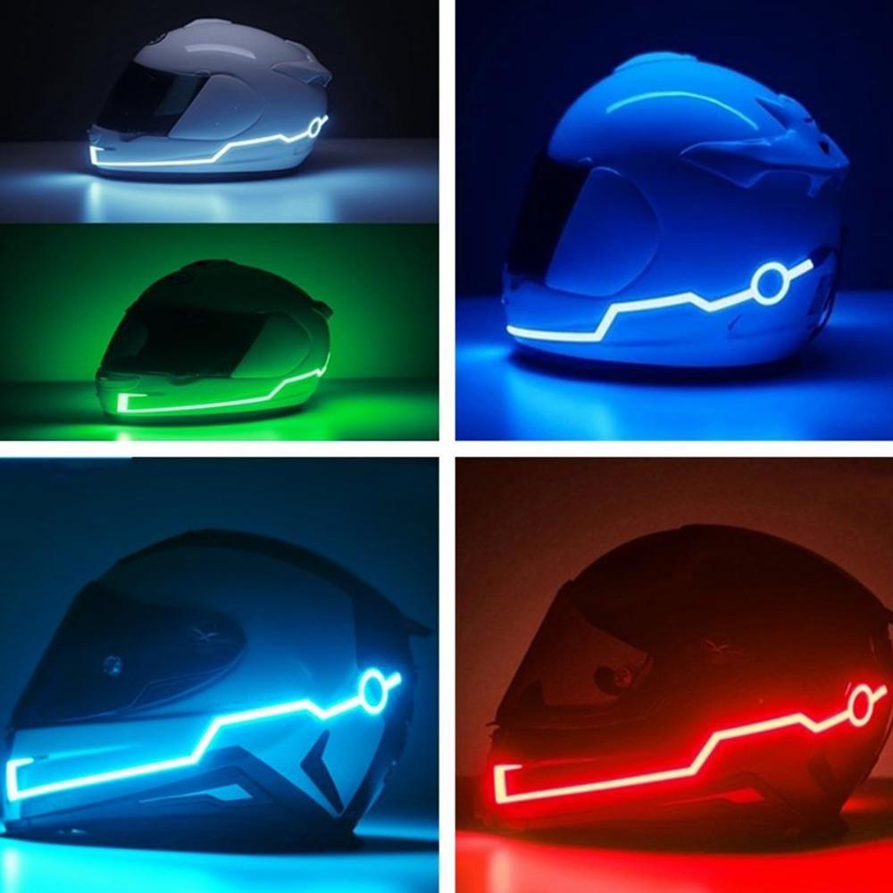Rechargeable Motorcycle Helmet Light Strip Night Signal Luminous Strip Fashion