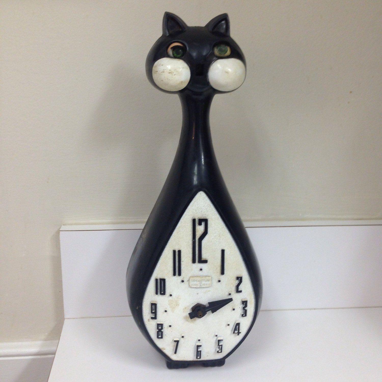 Vintage Spartus Kit Kat Clock Parts Only Kit Kat Clock Vintage Clock Clock Parts