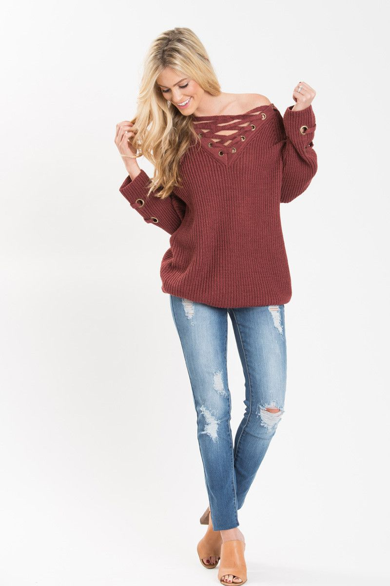 Lace Up Sweaters, Cozy Winter Knits, Must Have Sweaters of the ...