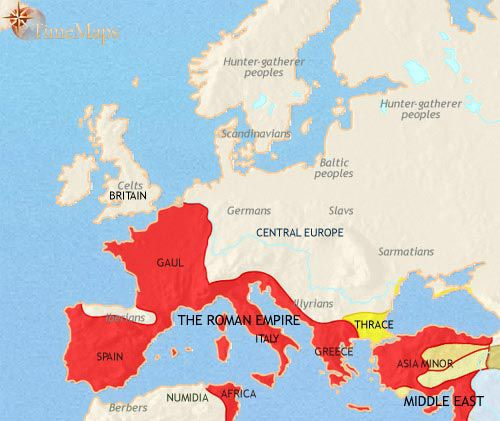 rome on europe map Pin on Archaeology/Paleoanthropology