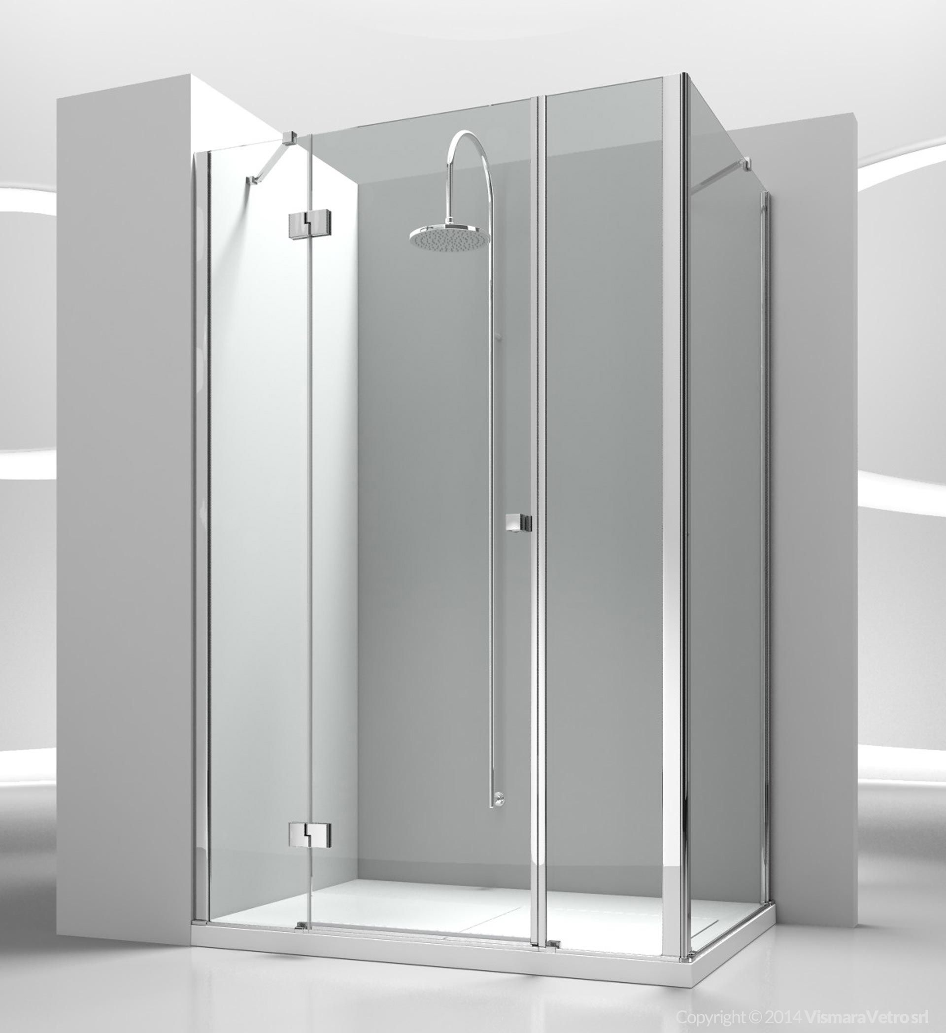 Pin su Sintesi Corner custom tempered glass shower cabin