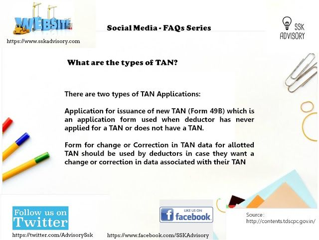 What Are The Types Of Tan Sskadvisory How To Apply Social Media Application Form