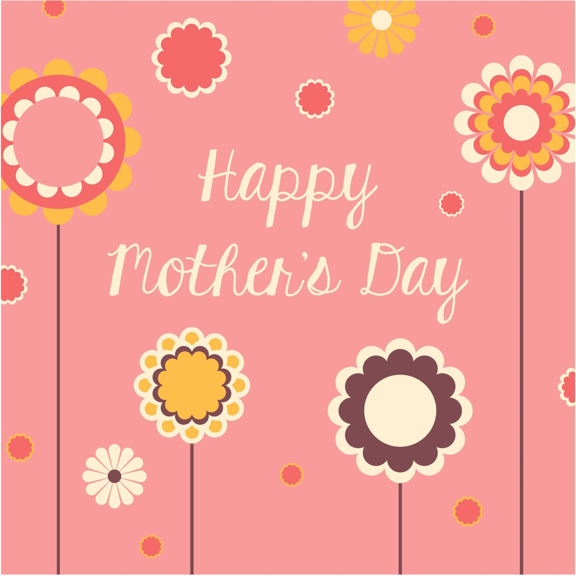 Happy MotherS Day Amazing Background Vector   Best Mothers