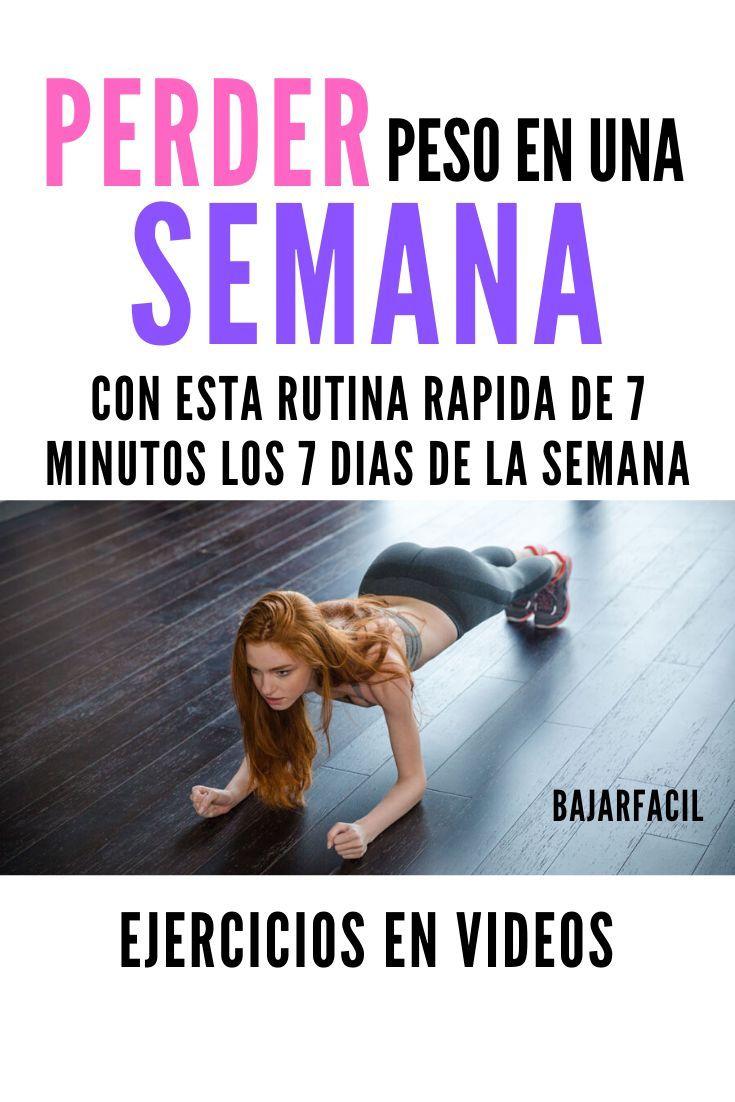 Perder peso ejercicios en videos con una rutina de 7 minutos al día