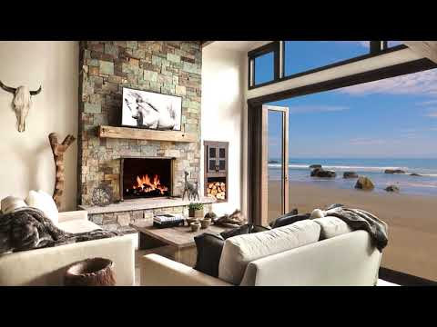 Hd Beach House Fireplace Screensaver Background Cosy Living Room Fire Crackling Sound Only 2 Hrs Youtub Cosy Living Room Fireplace Screensaver Beach Room