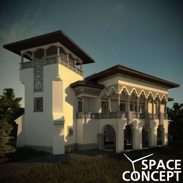 Proiect casa arhitectura clasica neoromaneasca space for Casa clasica country