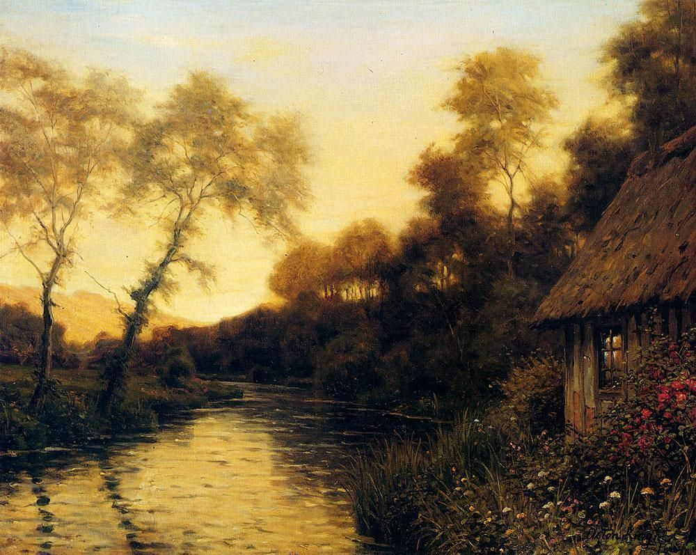 Famous French Paintings Famous French Paintings For Sale Famous French Paintings Louis Aston Knight Landscape Sunset Painting