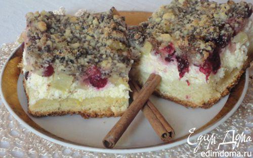 Обсыпной пирог с маком