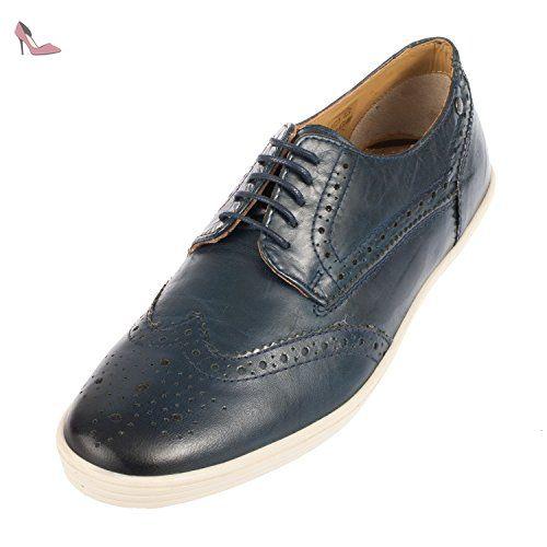 Base London , Chaussures de ville à lacets pour homme vierge - bleu - bleu  marine