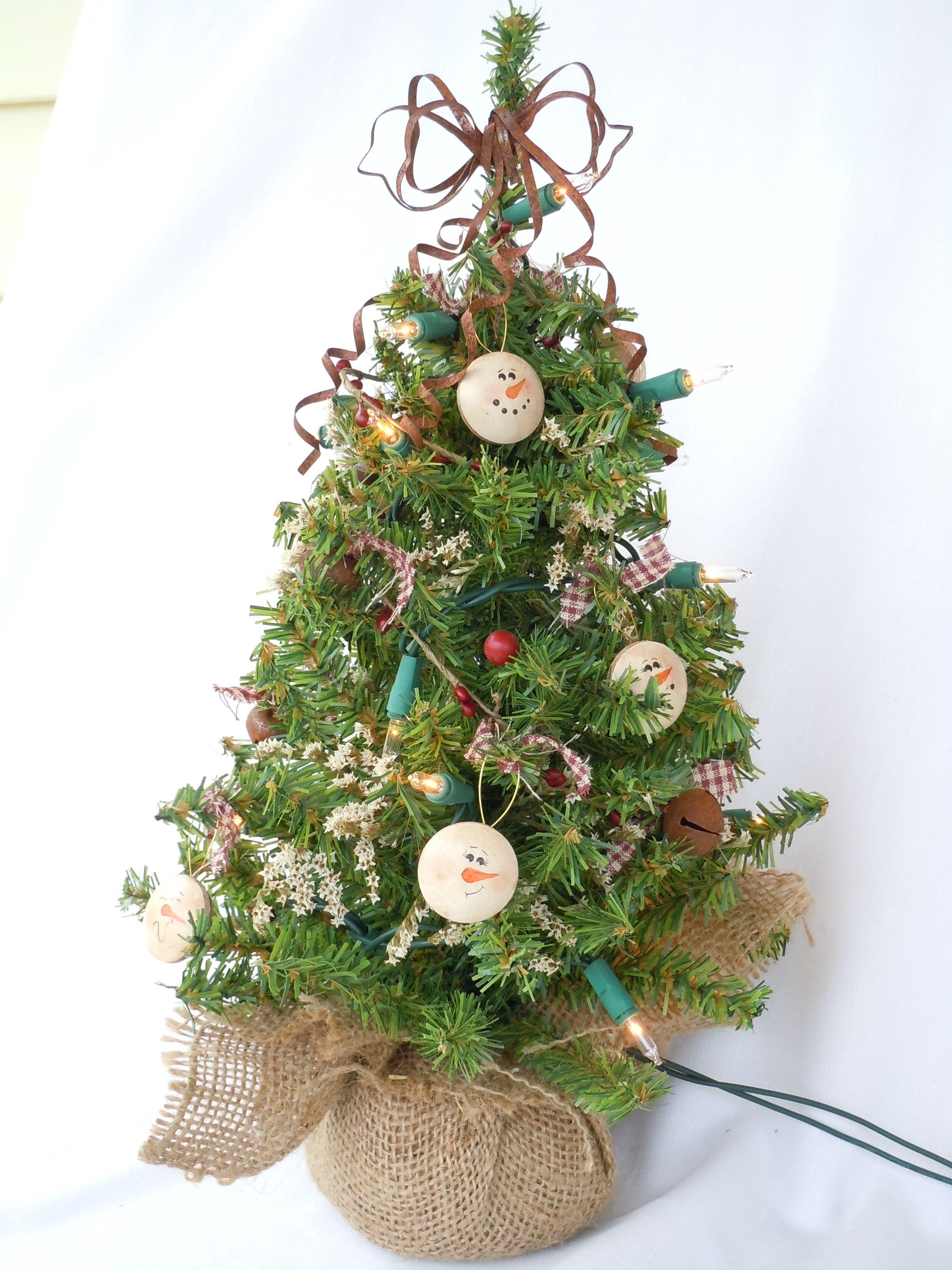 Rustic Snowman Table Top Christmas Tree   Christmas Trees ...