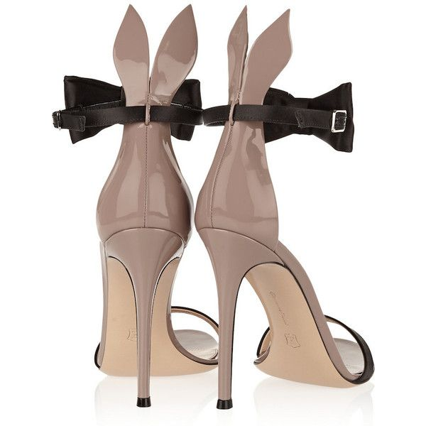 The Daily Bauble: Gianvito Rossi Playboy Bunny Bow Tie Heels | The... ❤ liked on Polyvore featuring shoes