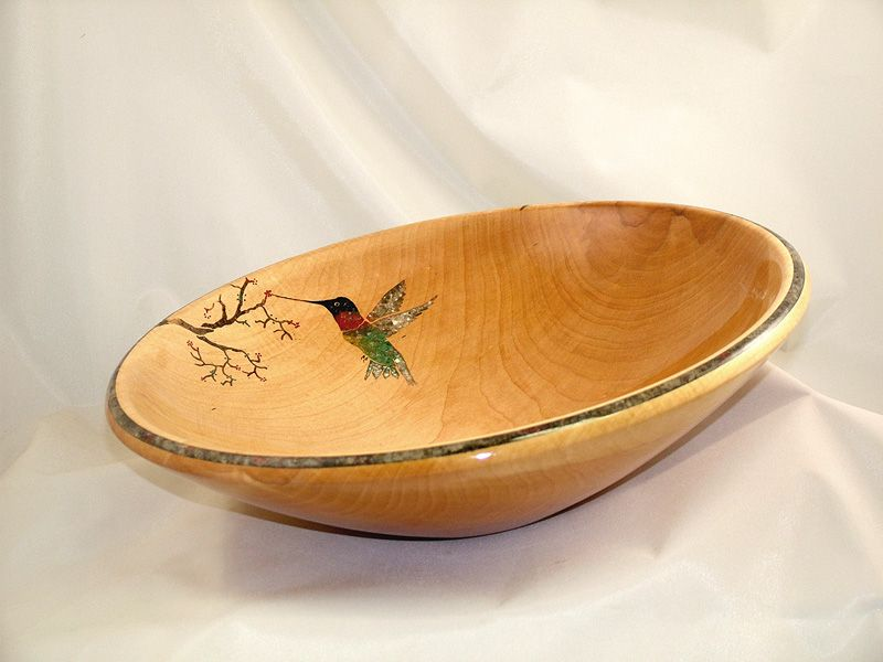 Beautiful hand turned in-lay bowl from Melody Bellock.