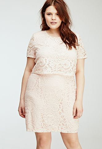 Floral Lace Layered Dress | FOREVER21 PLUS - 2000080931 ...