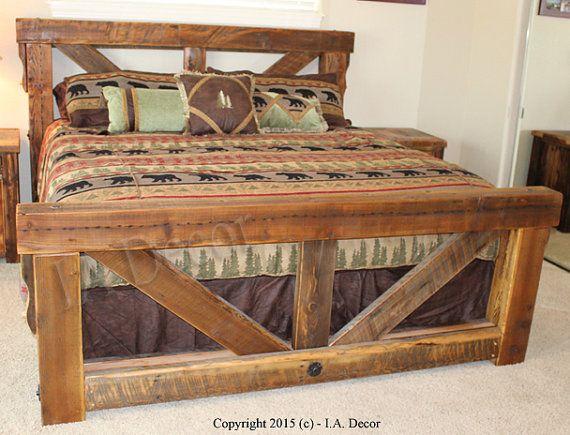 Caballete madera grande armazón de la cama Reina $2250 Rey $2475 ...