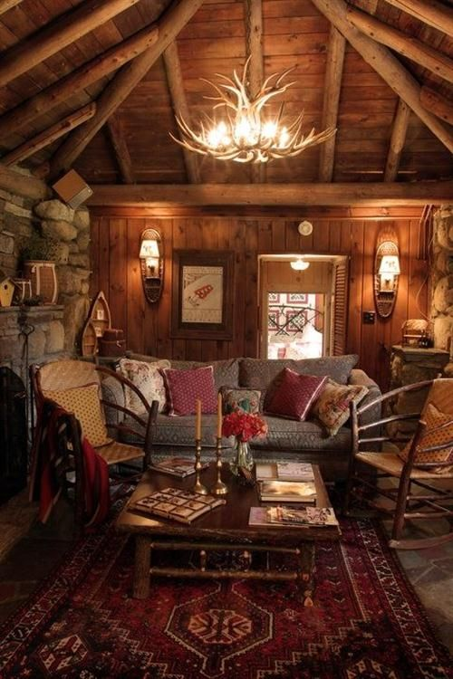 Great county cabin look Andrew Ledford Views Swiss Chalet House