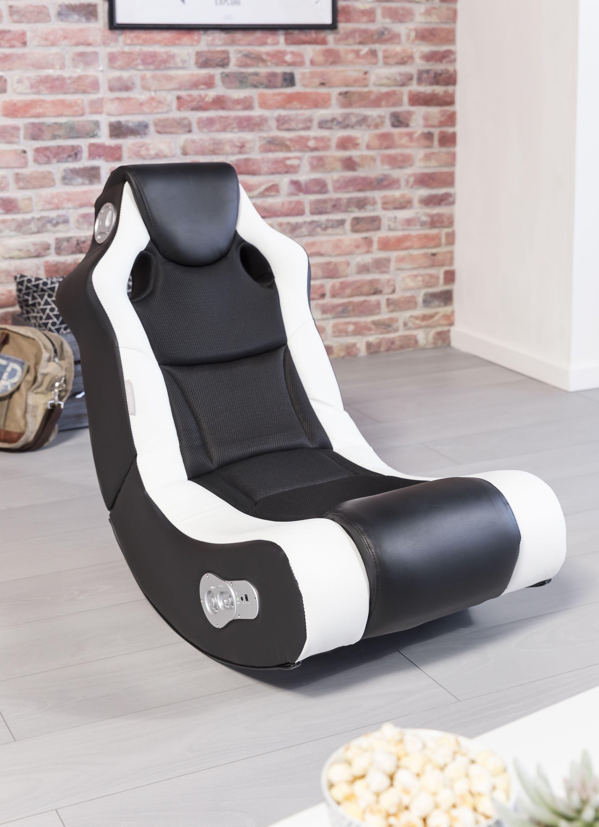 Wohnling Booster Soundchair Schwarz Weiß Mit Bluetooth Wl8 010 Aus Kunstleder Und Mesh Wohnzimmer Gaming Sessel Zocken Sessel Wohnzimmer Einrichtungstrends