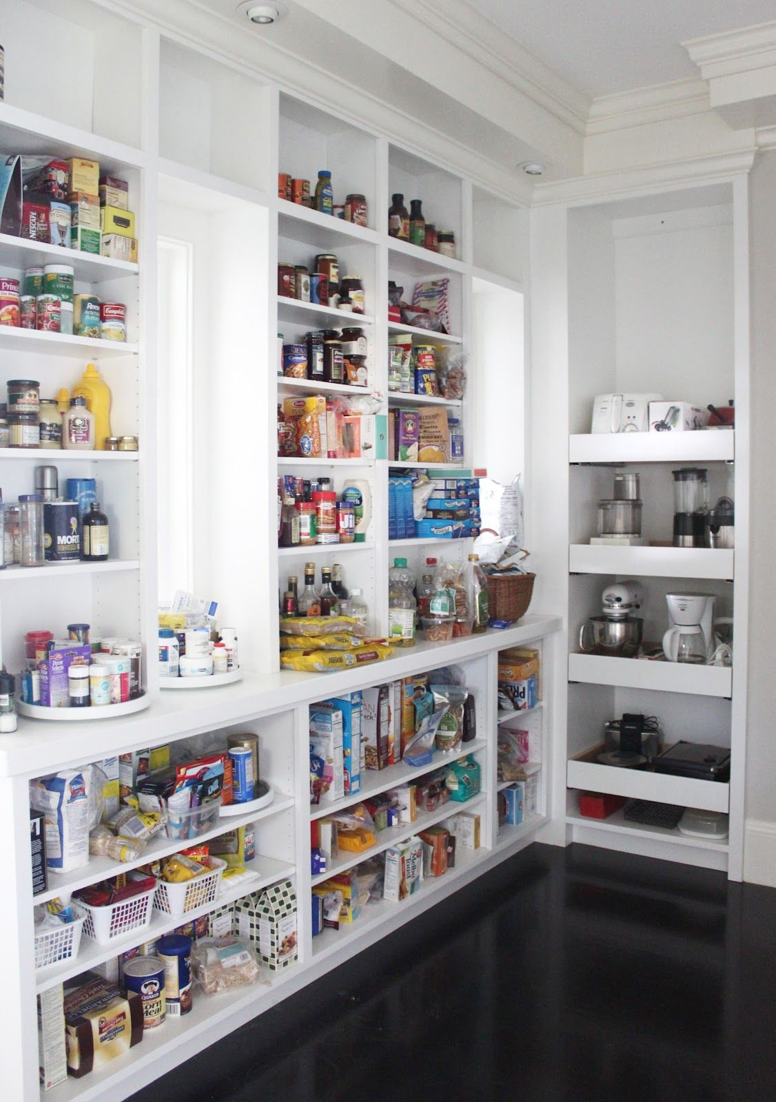 open shelving for our kitchen nook like that the bottom shelves are deeper than the kitchen pantry ideas - Walk In Pantry Design Ideas