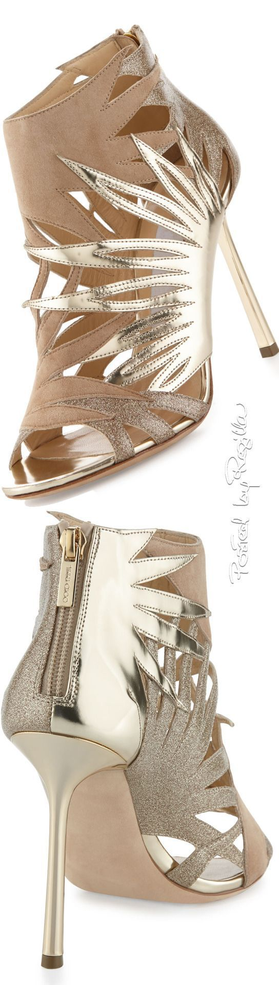 442fc82f4295 Regilla ⚜ Jimmy Choo❤ ....Perfect for spring.....How to make high heels  comfortable - you tube at www.youtube.com ... ...also see hopscotch in  heels!!