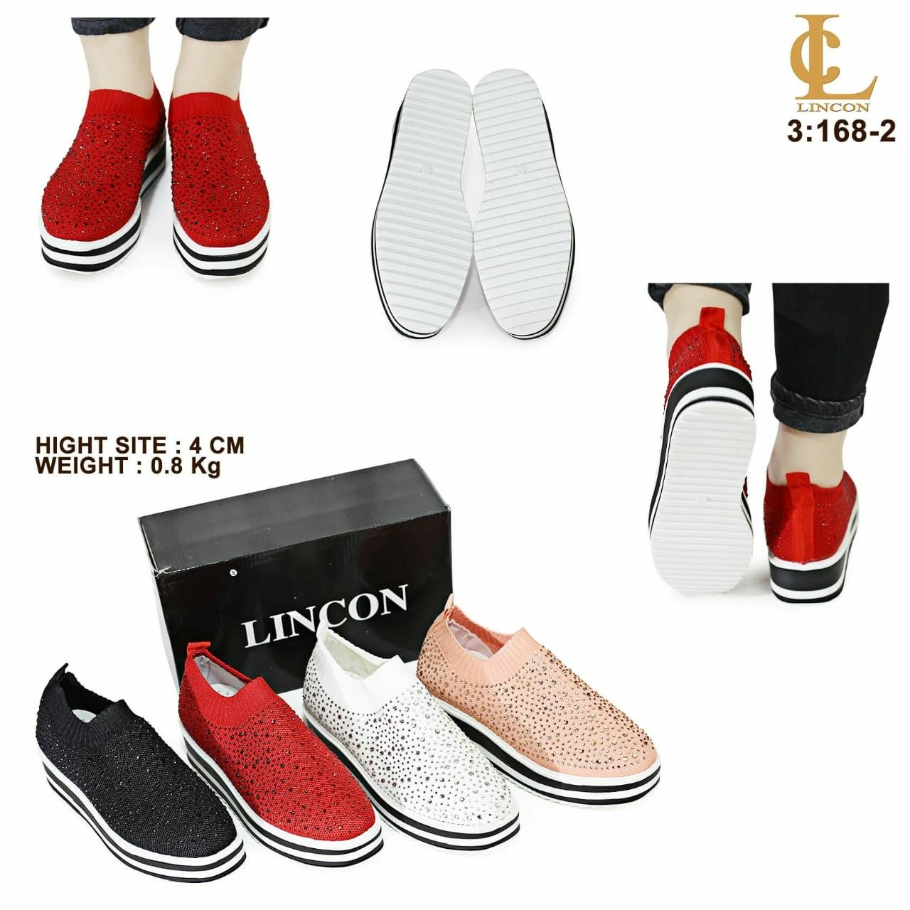 Sepatu Merek Lincon Diamond Seri 168 2 Kualitas Original Brand