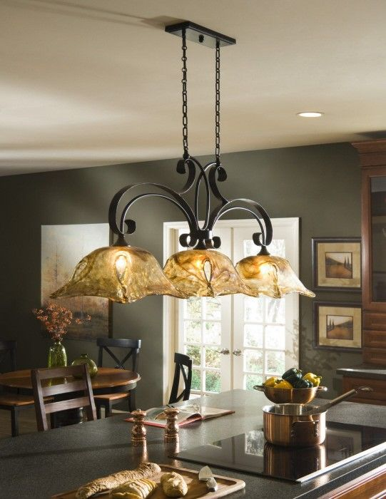 uttermost vitraio 3 light tuscan iron pool table light rh pinterest com