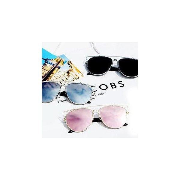 Oversized Sunglasses (37 SAR) ❤ liked on Polyvore featuring accessories, eyewear, sunglasses, glasses, oversized aviators, black aviators, black aviator sunglasses, black lens aviators and pink sunglasses