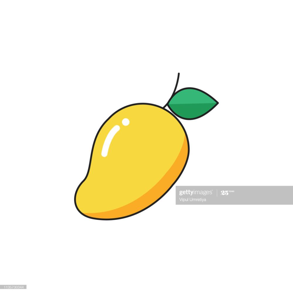 Mango Fruit Fruit Icon Vector Cartoon In 2021 Cartoon Photo Free Vector Art Icon