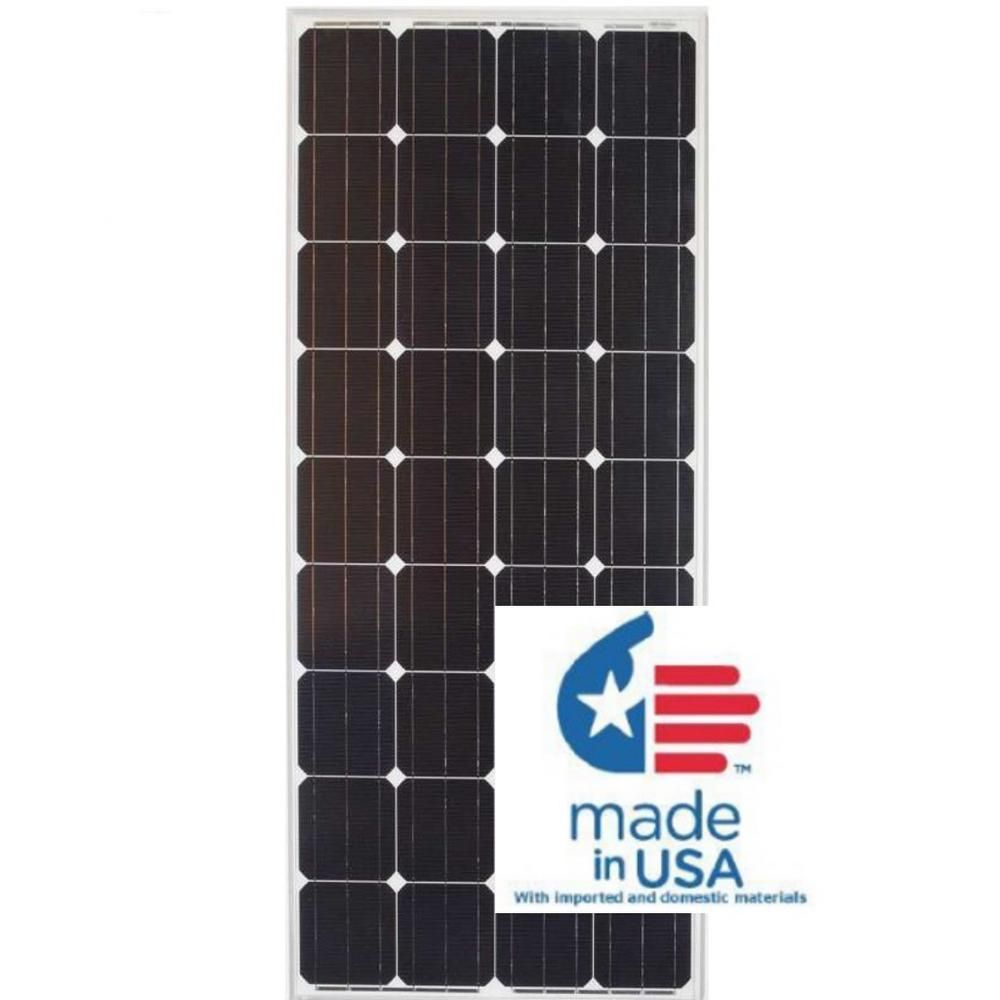 Grape Solar 180 Watt Monocrystalline Pv Solar Panel For Cabins Rv S And Back Up Power Systems Gs Star 180w Us The Home Depot Solar Pv Panel Solar Energy Panels Solar Power Panels