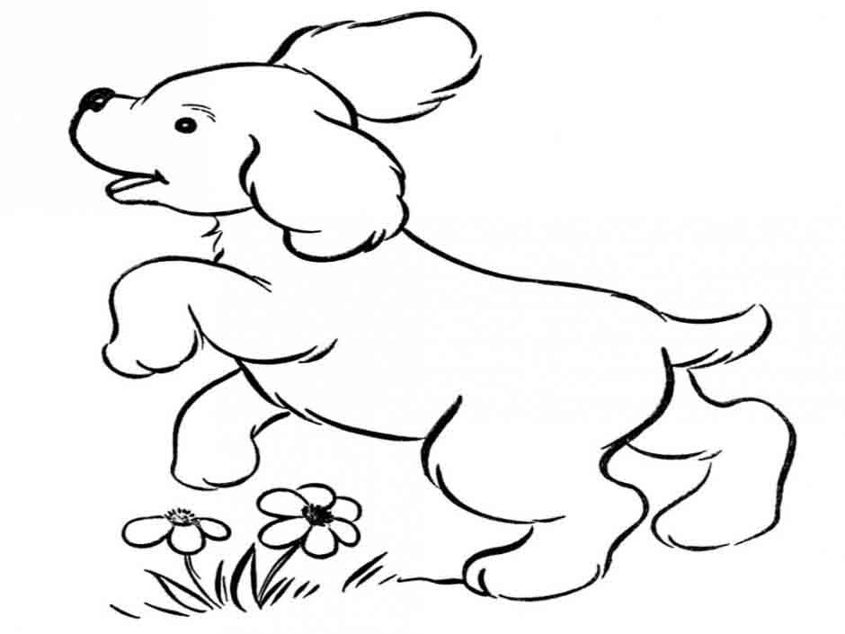 realistic dog coloring pages printable