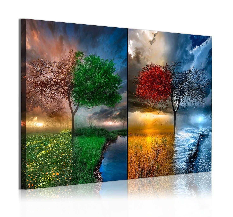 Cuadro moderno 1 pieza 4 estaciones decoraci n paisajes for Decoracion y paisaje s a