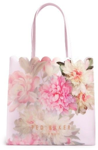 03c71fc34 Ted Baker London Pink Painted Posie Large Icon Bag