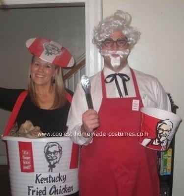 Coolest Homemade Colonel Sanders and KFC Chicken Bucket Couple ... a417126ab7c