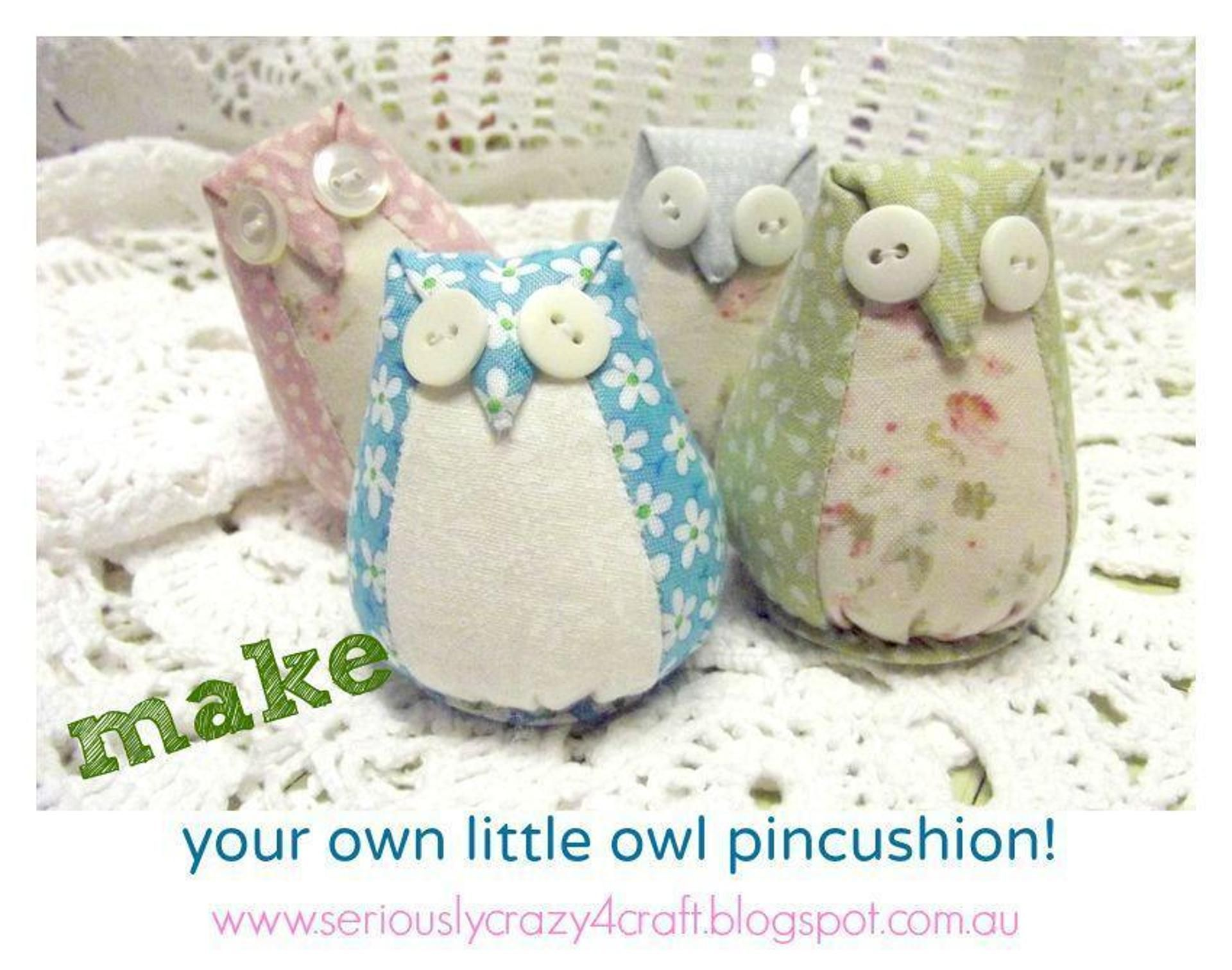 Little Owl Pin-Cushion - Template and Tutorial. | Craftsy | SEWING ...